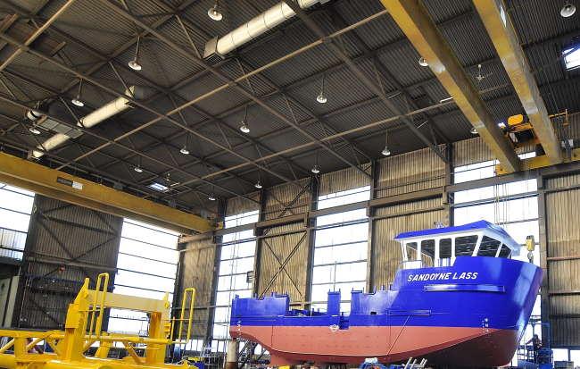 lichtplan industrieel scheepswerf
